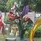 Flower sculpture in the sculpture garden.