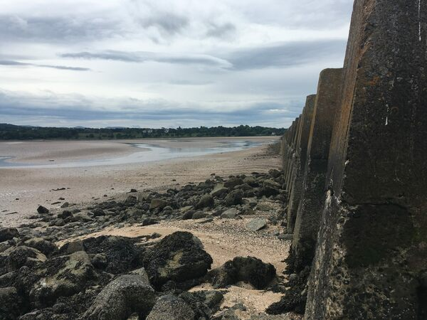 Cramond Ghost Island in Edinburgh, Scotland