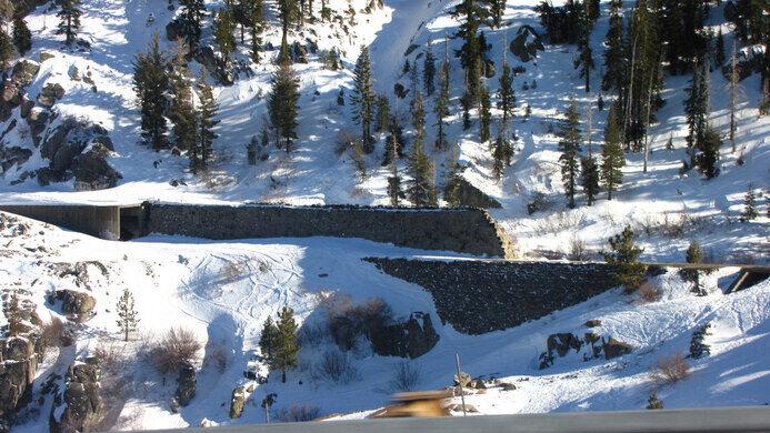 Donner Pass Summit Tunnels Truckee California Atlas