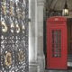 At the entrance to Burlington House stand two K2 telephone boxes.