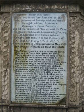 boatswain dog. the poem on boatswain\u0027s tomb. shelley rodrigo/cc by 2.0 boatswain dog g