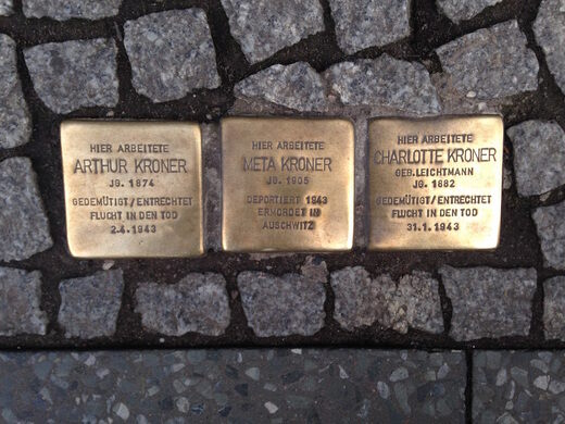 Picture depicting Stolpersteine plaques