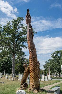 Glenwood cemeterys chainsaw sculptures u2013 washington d.c. atlas