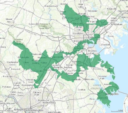 Maryland\'s 3rd Congressional District – Halethorpe, Maryland - Atlas ...