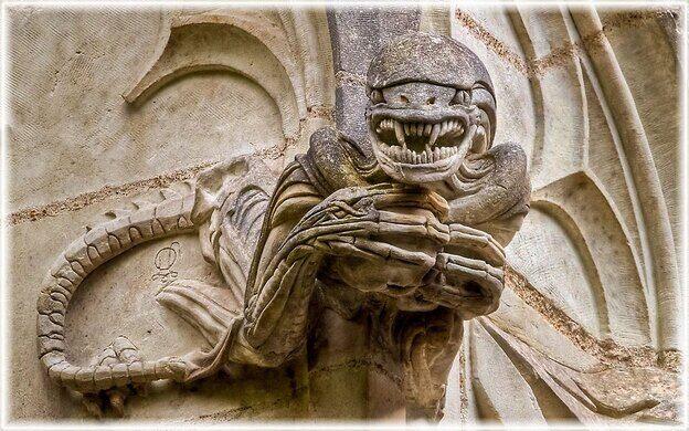 The Grotesques Of Chapel Bethlehem Saint Jean De Boiseau