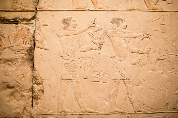 Hidden Egyptian Temple in Field Museum Break Room