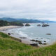 A view of Crescent Beach from Ecola Point.