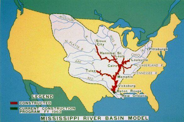 The Mississippi River Basin Model Jackson Mississippi Atlas