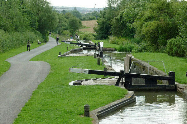 Wilmcote Lock Flight in The Ridgeway, England