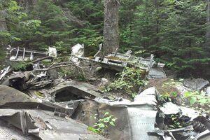 The debris of the 1943 crash.