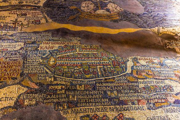 Madaba mosaic map madaba jordan atlas obscura view all photos gumiabroncs Choice Image