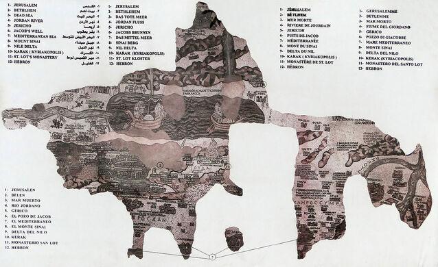 Madaba mosaic map madaba jordan atlas obscura madaba mosaic map wikipedia creative commons gumiabroncs Choice Image