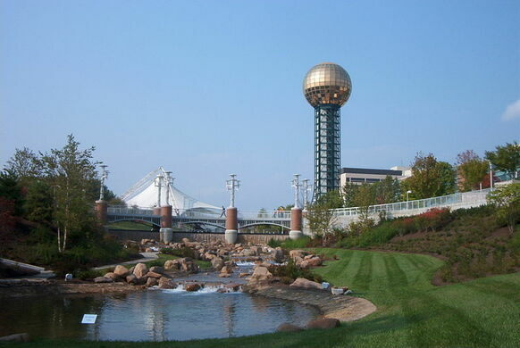 a view of the sunsphere in worlds fair park downtown knoxville j glover cc by sa 25