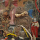 A cabinet of voodoo artefacts in the French Quarter of New Orleans