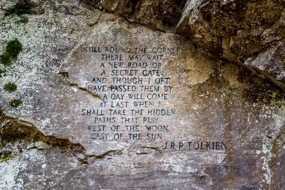 Hidden JRR Tolkien Quote Natural Bridge Virginia Atlas Obscura Classy Jrr Tolkien Quotes