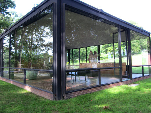 Glass House New Canaan Connecticut Atlas Obscura