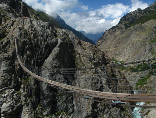 Trift Bridge Gadmen Switzerland Atlas Obscura