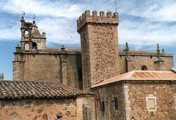 Torre de las Cigüeñas (Tower of the Storks) in Cáceres, Spain