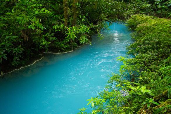 Resultado de imagen de celeste river costa rica