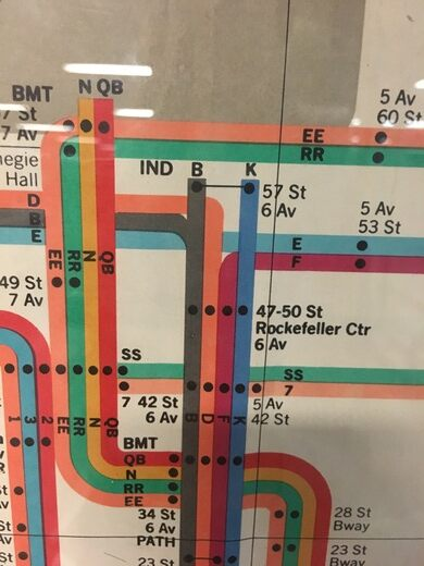 Nyc Subway Map Massimo Vignelli.Vintage Massimo Vignelli Subway Map New York New York Atlas Obscura