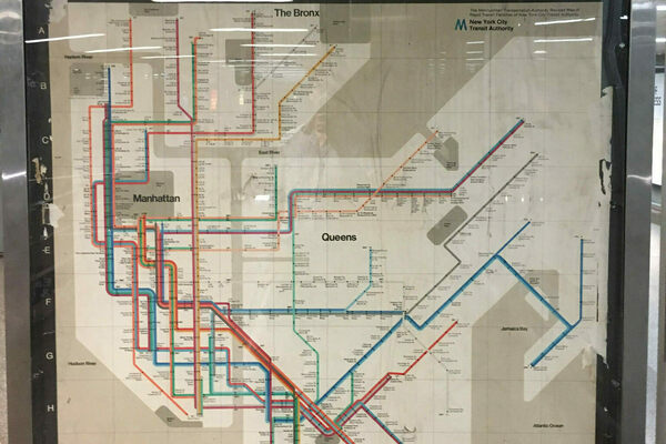 New York Subway Map Penn Station To Met Breuer Museum.A Vintage New York City Subway Map Hidden In Plain Sight The