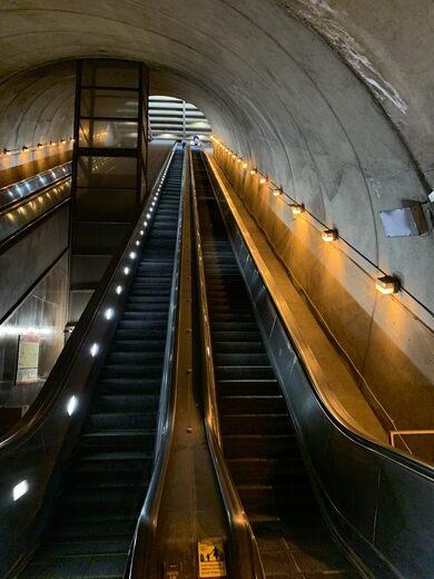 Rosslyn Metro Escalator – Arlington, Virginia - Atlas Obscura