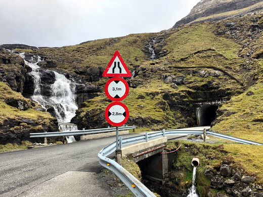 Faroe Islands One-Lane Tunnels