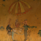 The murals feature scenes from Central Park, which is nearby.