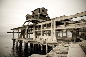 The abandoned torpedo launch station.