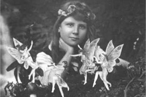 Frances Griffiths with Fairies