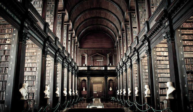 The Long Room Library At Trinity College Dublin Ireland