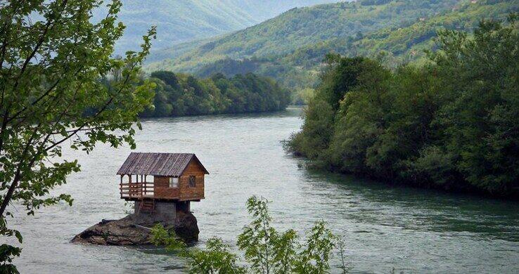 Drina River House Bajina Ba Ta Serbia Atlas Obscura