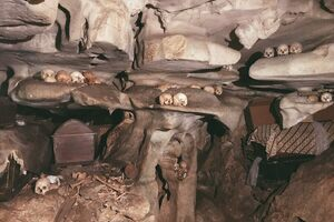 Inside the cave grave of Londa.