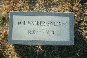 Joel Walker Sweeney gravemarker.