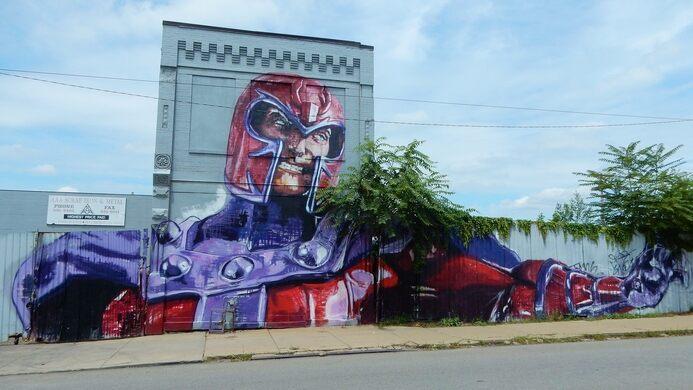 Magneto Mural Pittsburgh Pennsylvania Atlas Obscura