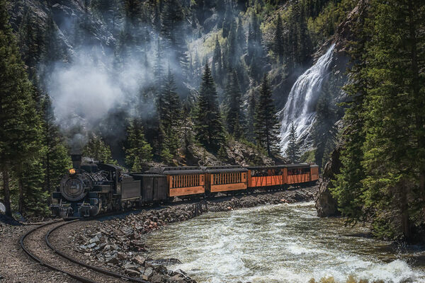 Durango and Silverton Narrow Gauge Railroad in Durango, Colorado