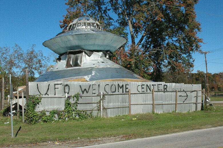 UFO Welcome Center – Bowman, South Carolina - Atlas Obscura on panda house, escape house, cosmos house, gold house, rock house, robot house, stick house, coast house, flash house, fish house, car house, wizard house, oasis house, rocket house, community house, train house, money house, nova house,
