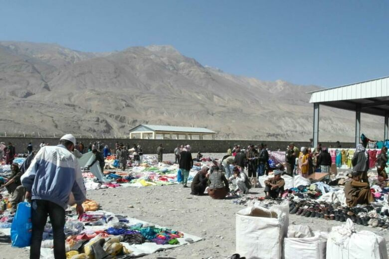 The Border Market on the Strip of Neutral Ground Between Tajikistan and Afghanistan