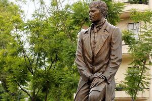 The monument to Alexander Von Humboldt.