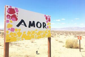 Spanish Love Sign at Twentynine Palms.