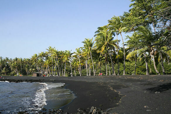 Punalu U Black Sand Beach Pahala Hawaii Atlas Obscura