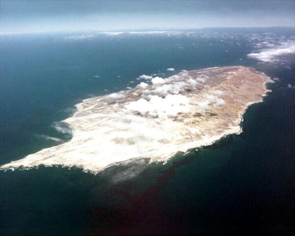 San Nicolas Island aerial view.
