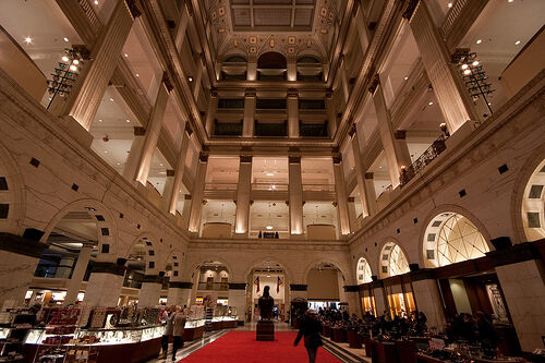 Interior of The Wanamaker Building