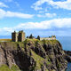 Dunnottar on the cliff looking out on the North Sea