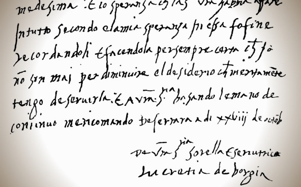 Lucrezia Borgia S Love Letters Milan Italy Atlas Obscura