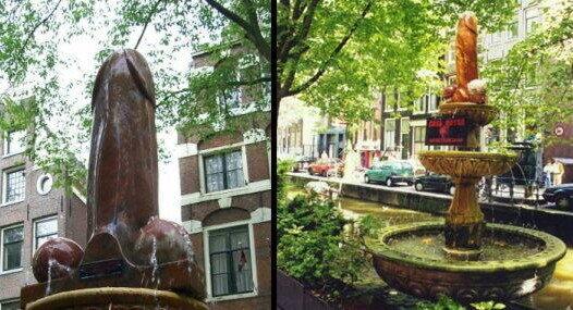 Terra Casa Amsterdam : Penis fountain u amsterdam netherlands atlas obscura