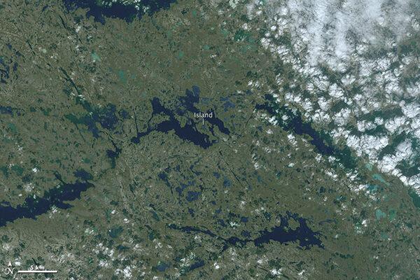 An Island in a Lake on an Island in a Lake on an Island