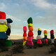 Seven Magic Mountains at sunset