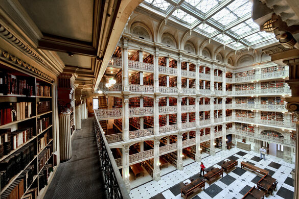 George Peabody Library – Baltimore, Maryland - Atlas Obscura