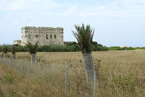 The monastery on Strofades island, looking north toward Zakynthos.